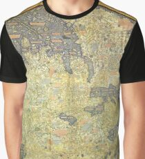 The Fra Mauro Map of the world. The map depicts Asia, Africa and Europe. Graphic T-Shirt