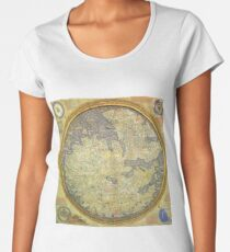 The Fra Mauro Map of the world. The map depicts Asia, Africa and Europe. Women's Premium T-Shirt