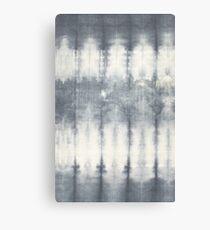 Grey and White Vintage Tie Dye Canvas Print