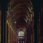 First vision of interior of cathedral St Denis Circa C12,13 France 19840826 0005  by Fred Mitchell