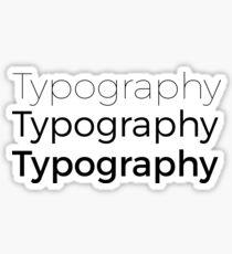 Typography Sticker