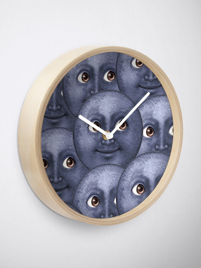 Alternate view of moon emoji  Clock