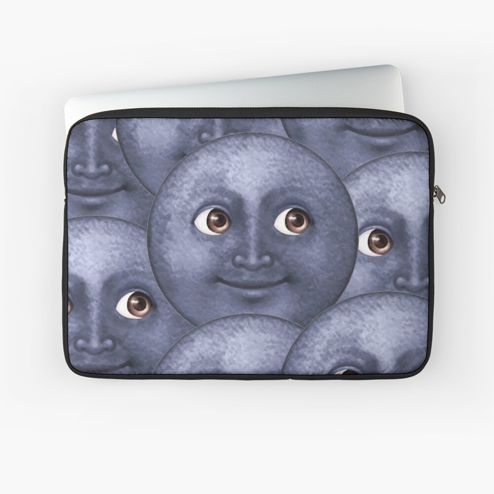 moon emoji  Laptop Sleeve