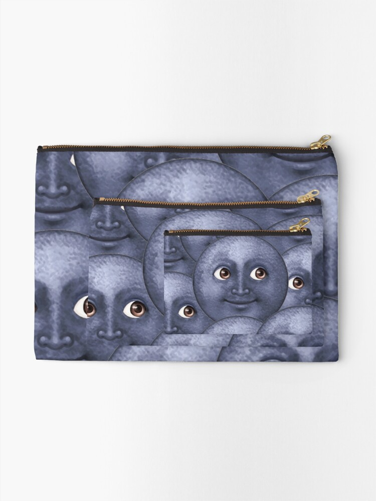 Alternate view of moon emoji  Zipper Pouch