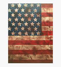 Vintage American Flag Photographic Print