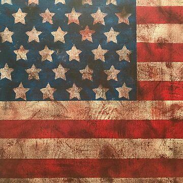 Vintage American Flag by Sofiazueva