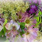 Pastel Violet Floral by Elaine Bawden
