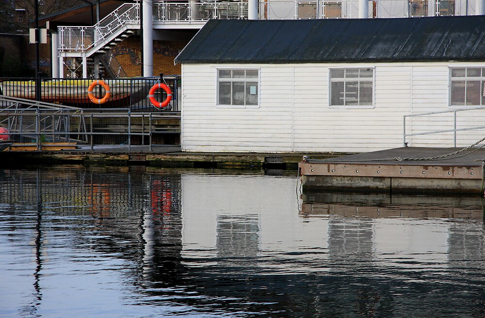 Boathouse at Millwall Docks by Dave Law
