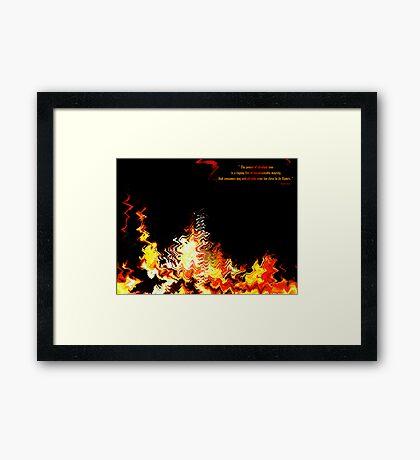 Fire of Love v1.0 Framed Print