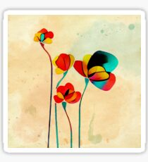 Exotic Watercolor Flower Sticker