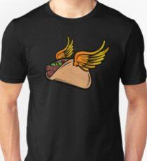 Flying Taco Heaven Slim Fit T-Shirt
