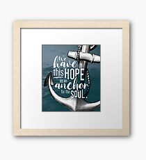 Hope for the Soul Framed Print