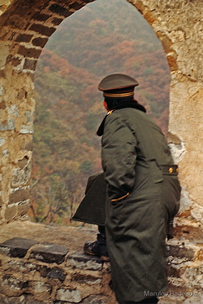 Soldier on the Great Wall by Marylou Badeaux