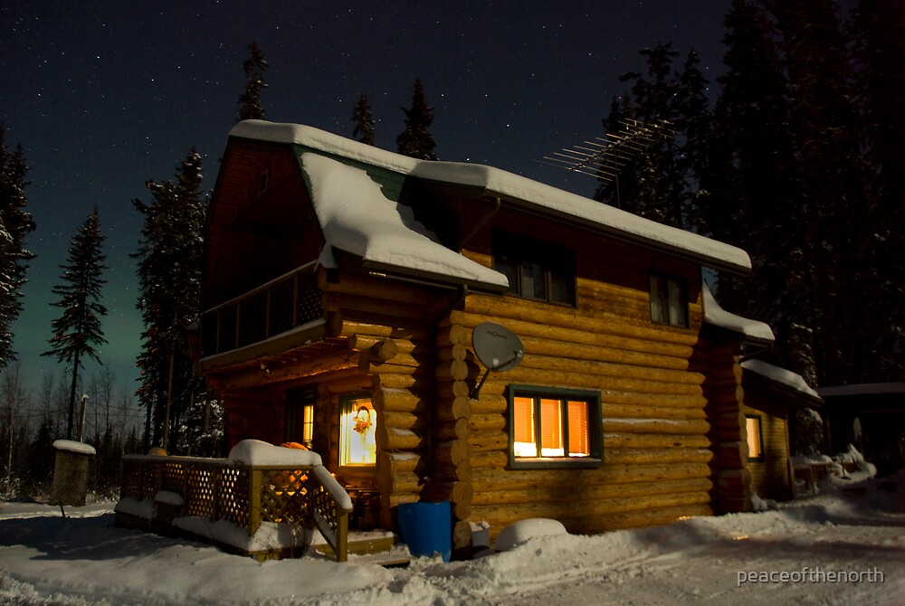 Winter Cabin by peaceofthenorth