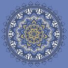 Blue and Gold Mandala  by Jacob Thomas