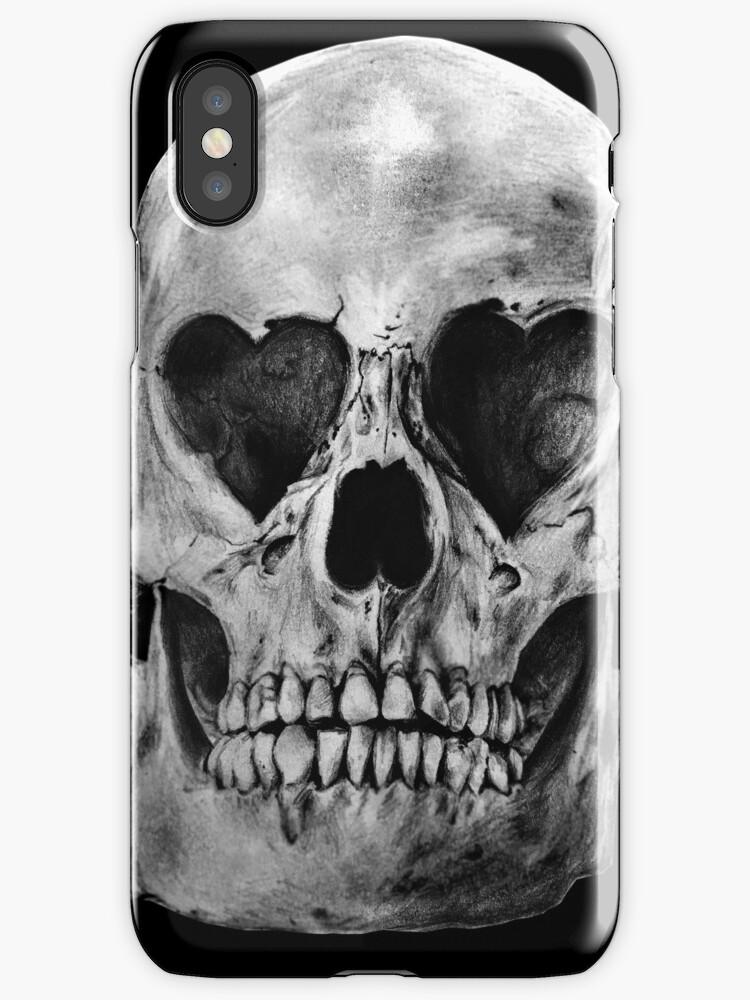 Vinilos y fundas para iPhone «Cráneo Anatómico del Ojo del Corazón ...