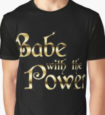 Labyrinth Babe With The Power (black bg) Graphic T-Shirt