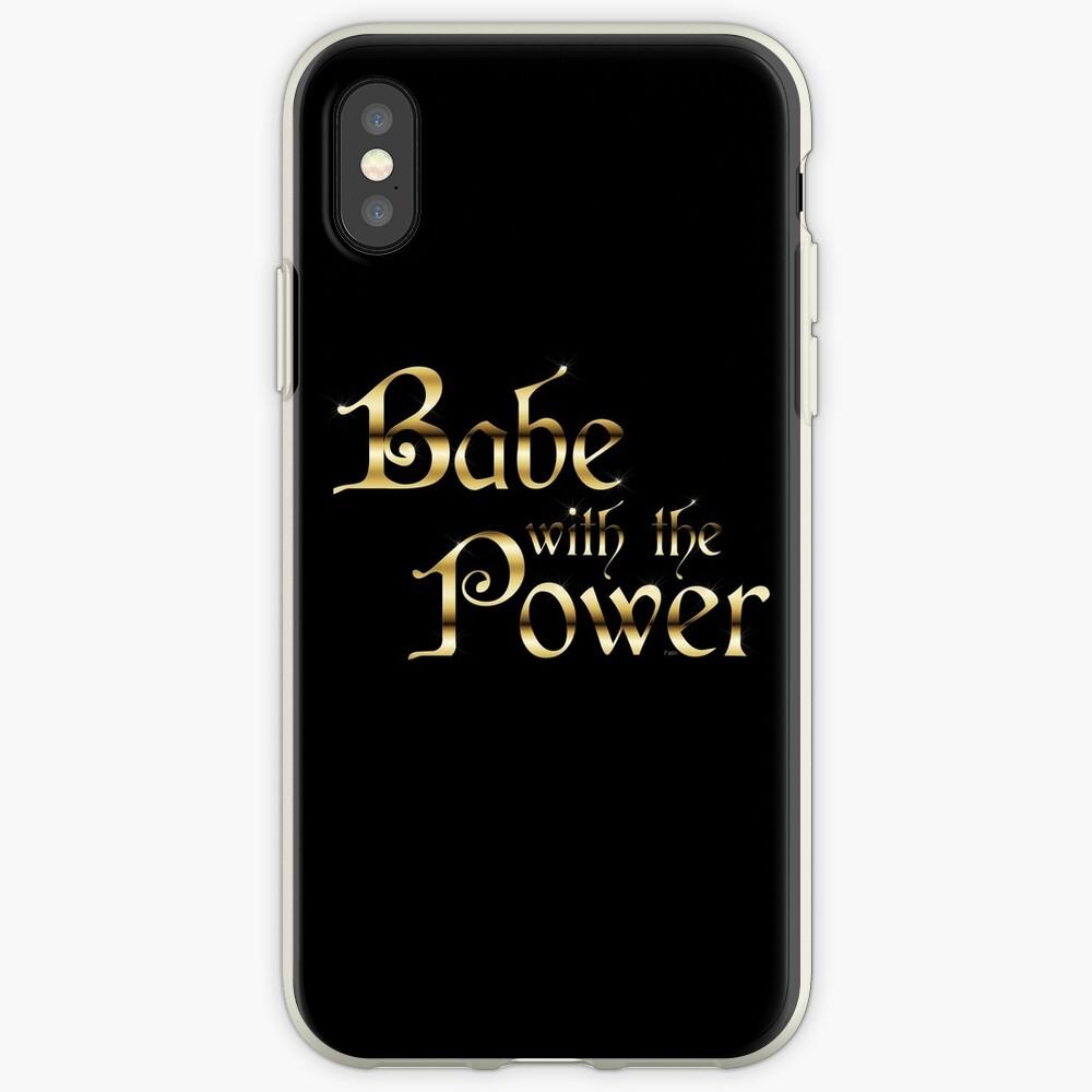 Labyrinth Babe With The Power (negro bg) Vinilos y fundas para iPhone
