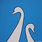 MUM & BABY SWAN by RoseLangford