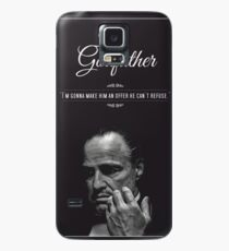 The Godfather - alternative poster, Marlon Brando, Francis Ford Coppola, Al Pacino, Mario Puzo, movie poster, film poster, retro poster Funda/vinilo para Samsung Galaxy