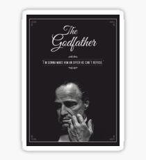 The Godfather - alternative poster, Marlon Brando, Francis Ford Coppola, Al Pacino, Mario Puzo, movie poster, film poster, retro poster Pegatina