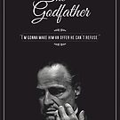 «The Godfather - alternative poster, Marlon Brando, Francis Ford Coppola, Al Pacino, Mario Puzo, movie poster, film poster, retro poster» de ManuelGuajiro