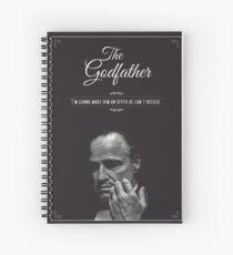 The Godfather - alternative poster, Marlon Brando, Francis Ford Coppola, Al Pacino, Mario Puzo, movie poster, film poster, retro poster Cuaderno de espiral