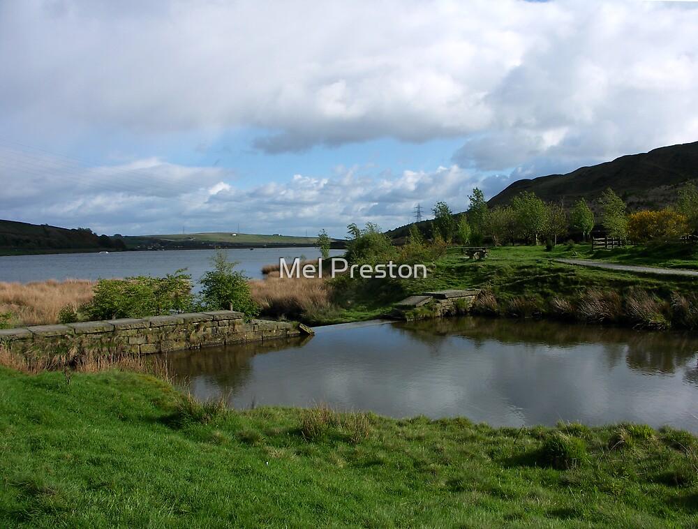 Cowm Reservoir, Whitworth by Mel Preston