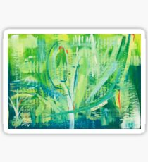 Blue and Green Abstraction Sticker