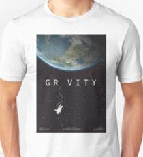 Gravity, alternative poster, printable, Sandra Bullock, George Clooney, Alfonso Cuaron, nasa astronaut, movie poster, film poster Camiseta unisex