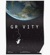 Gravity, alternative poster, printable, Sandra Bullock, George Clooney, Alfonso Cuaron, nasa astronaut, movie poster, film poster Póster