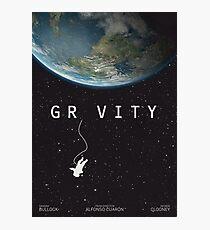 Gravity, alternative poster, printable, Sandra Bullock, George Clooney, Alfonso Cuaron, nasa astronaut, movie poster, film poster Lámina fotográfica