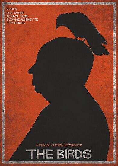 the birds alternative poster printable alfred hitchcock rod taylor tippi hedren