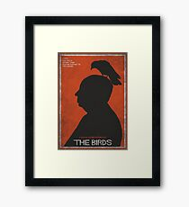 The Birds, alternative poster, printable, Alfred Hitchcock, Rod Taylor, Tippi Hedren, movie poster, retro poster, Saul Bass style Lámina enmarcada