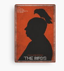 The Birds, alternative poster, printable, Alfred Hitchcock, Rod Taylor, Tippi Hedren, movie poster, retro poster, Saul Bass style Lienzo