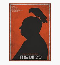 The Birds, alternative poster, printable, Alfred Hitchcock, Rod Taylor, Tippi Hedren, movie poster, retro poster, Saul Bass style Lámina fotográfica