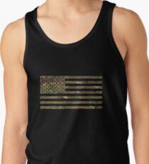 U.S. Flag: Military Camouflage Tank Top