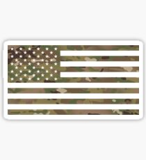 U.S. Flag: Military Camouflage Sticker
