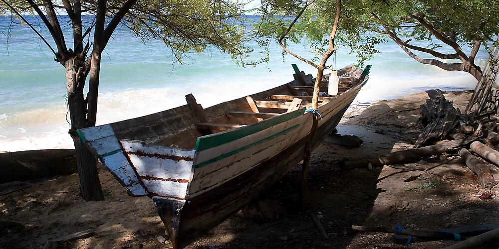Fishing Boat, Baucau, East Timor by John Tozer