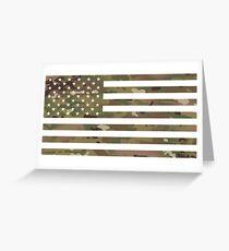 U.S. Flag: Military Camouflage Greeting Card