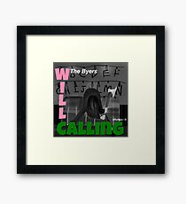 Will Calling | London Calling Parody Framed Print