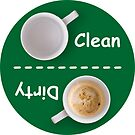 Dirty/Clean Dishwasher Label by Ron Marton