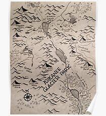 Kokanee Glacier Map Poster