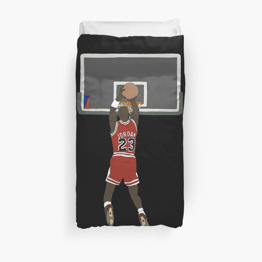 Michael Jordan Game Winner Duvet Cover