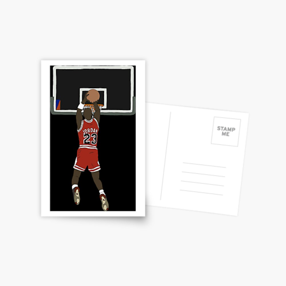 Michael Jordan Game Winner Postcard