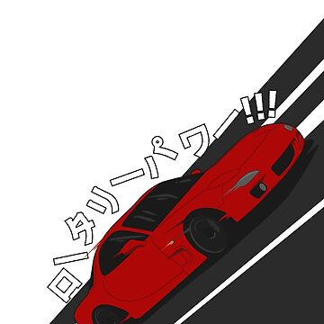 Mazda RX7 FD - Rotary Power (Red) by RexDesigns