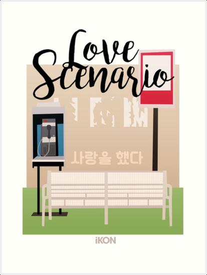 Ikon Love Scenario Mv Inspired Art Prints By Lojakshop Redbubble