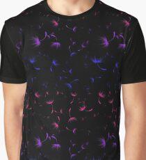Dandelion Seeds Bisexual Pride (black background) Graphic T-Shirt