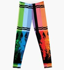 Spattered Crayons  Leggings