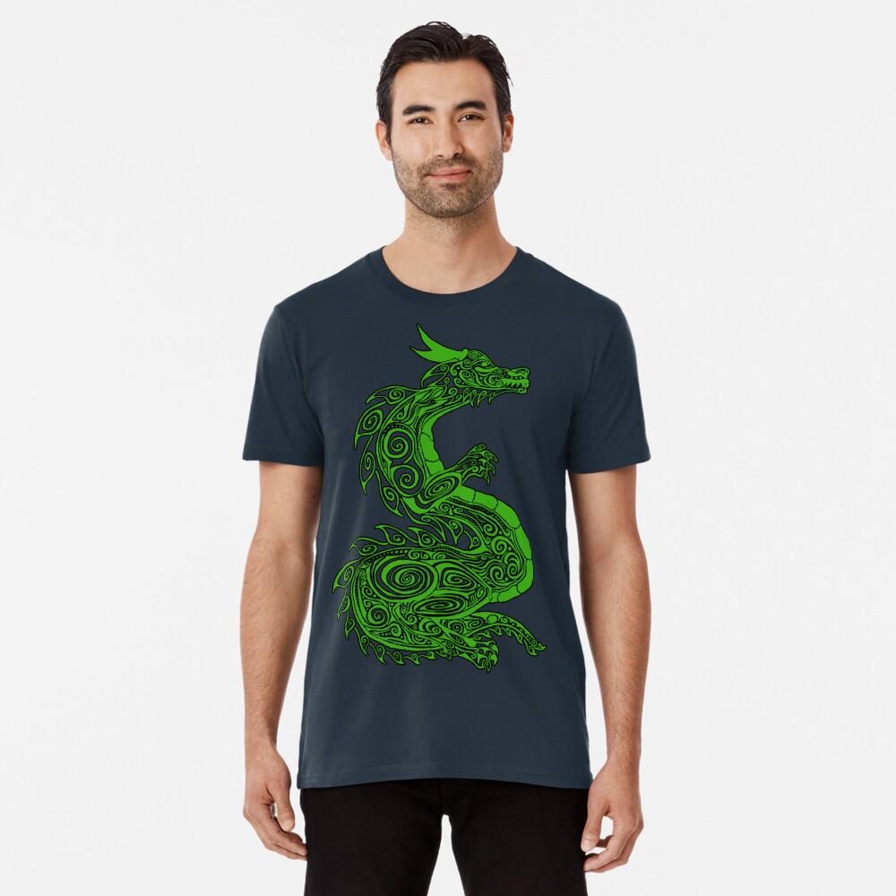 Grüner Drache Premium T-Shirt